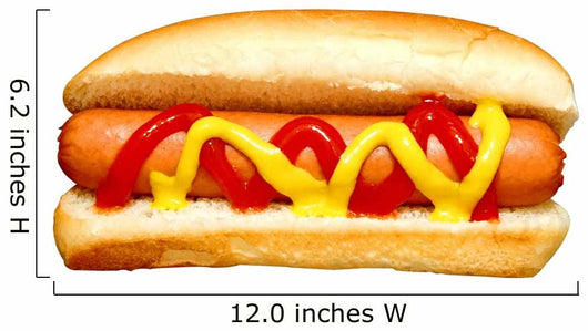 Hot Dog with Ketchup Wall Decal