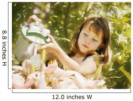 Child Waters Flowers Wall Mural