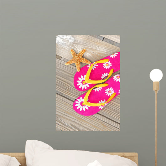 Flip Flops and Starfish Wall Decal