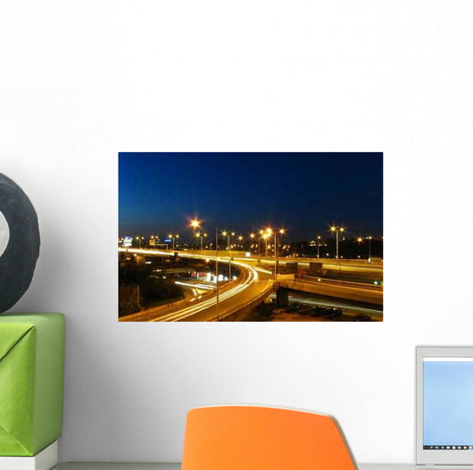 Highway Night Wall Decal