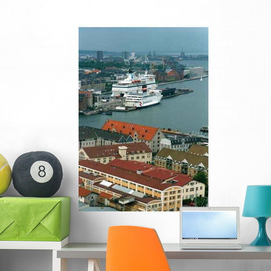 Denmark Copenhagen Port Wall Decal