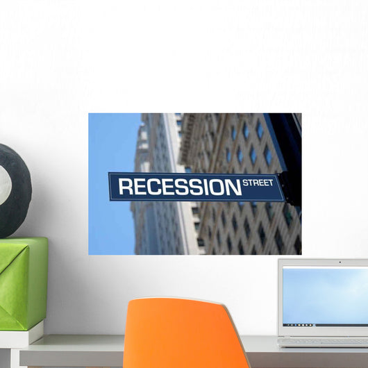 Recession Street Wall Decal