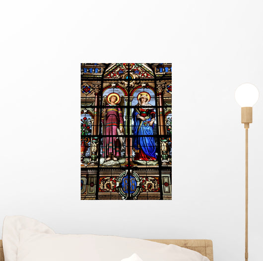 Versailles Stained Glass Wall Decal
