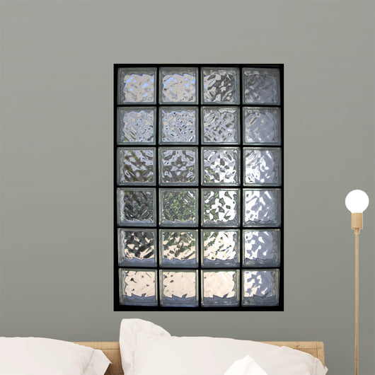 Glass Brick Window Wall Mural