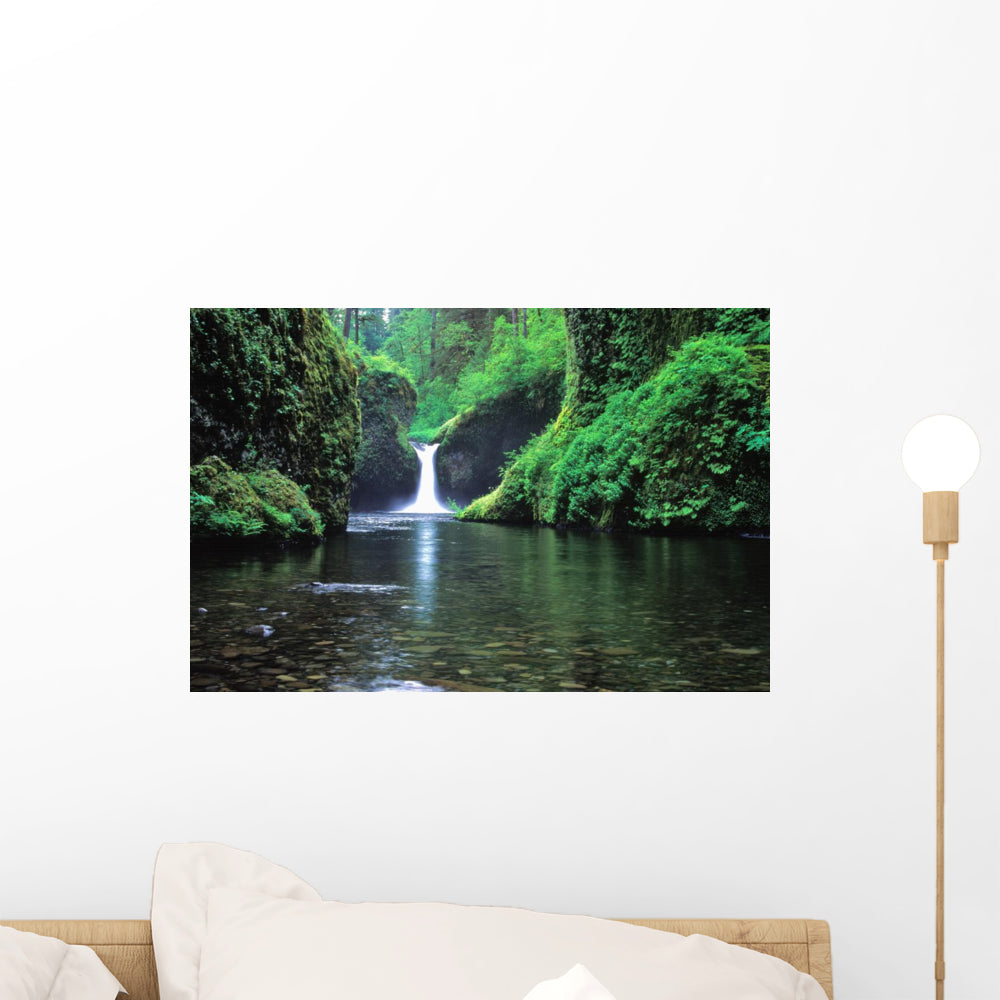 Punchbowl Falls Oregon Waterfall Wall Decal Wallmonkeys Com