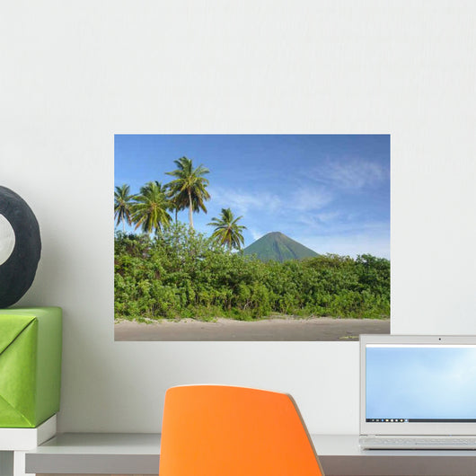 Black Sand Beach Isla Wall Decal