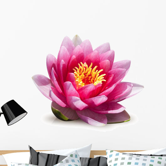Lotus Flower White Wall Decal