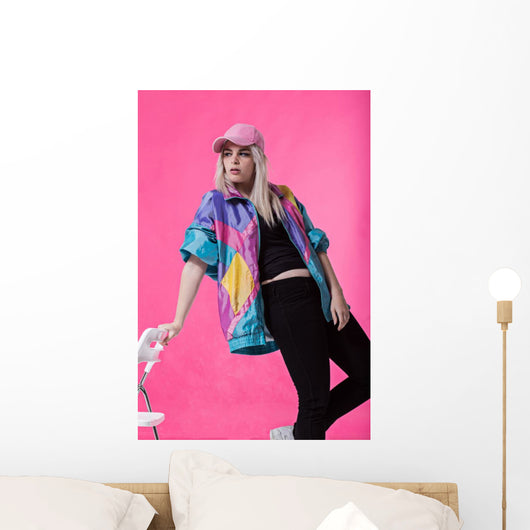 Stylish Young Woman Posing Wall Decal