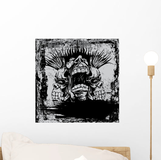 With Punk Musician Wall Decal