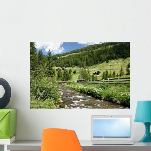 Torrent Ultental South Tyrol Wall Decal