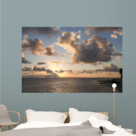 Cloudscape over Ocean and Wall Decal