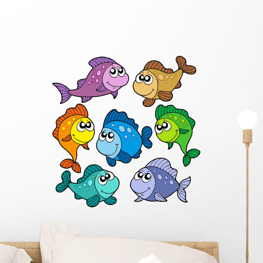 Various Cute Fishes Collection Wall Stickers