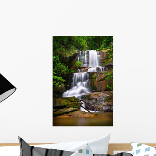 Waterfalls Nature Landscape Blue Wall Decal