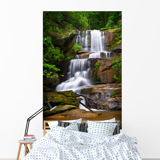 Waterfalls Nature Landscape Blue Wall Mural