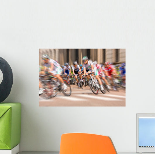 Cyclists Tour Wall Decal