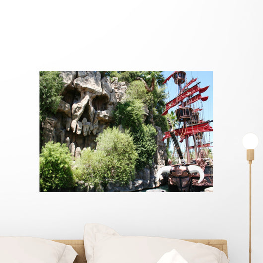 Pirate Ship and Skull Wall Decal