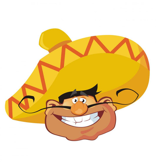 Mexican Face Wall Decal