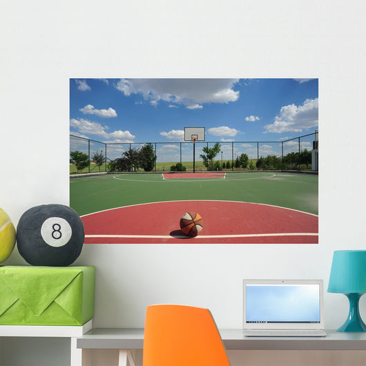 Basketball Field Wall Mural