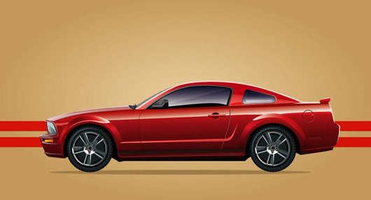 Red Sports Car Wall Decal