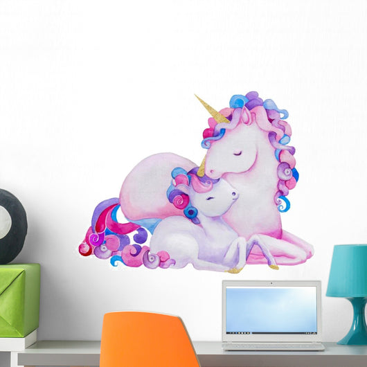 Cute Pastel Purple Watercolor Wall Decal