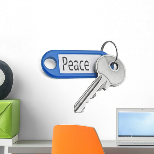Key to Peace Wall Decal