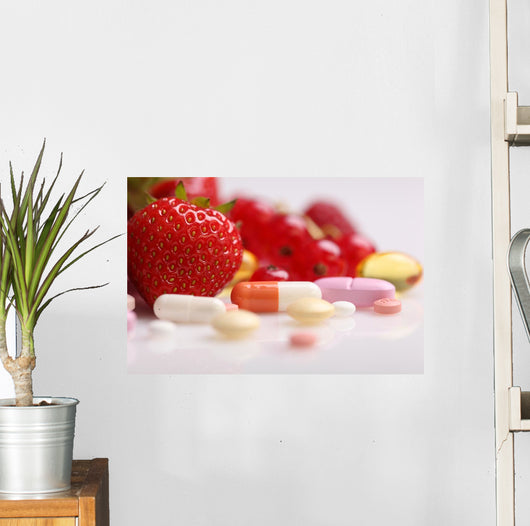 Vitamins and Supplements Nutritional Wall Decal