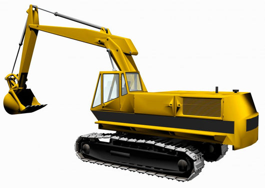 backhoe Wall Decal