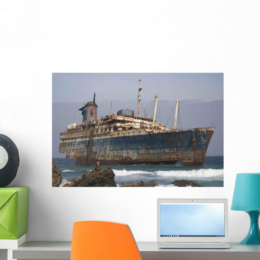 Ship Wreck Wall Decal