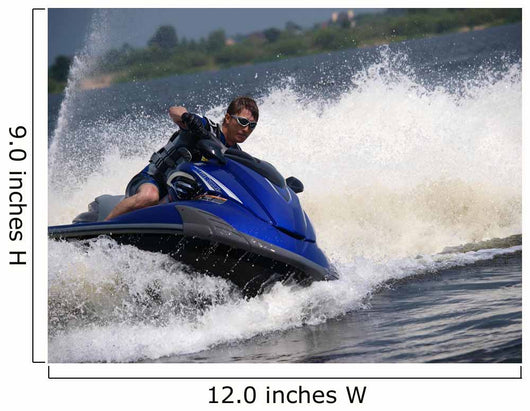 Man Waverunner Turns Left Wall Decal