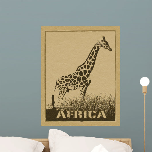 African Poster Wall Mural