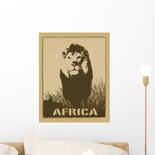 Africa Image with Lion Wall Mural