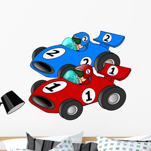 Car Race Wall Decal