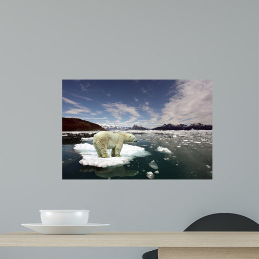 Polar Bear and Global Wall Decal