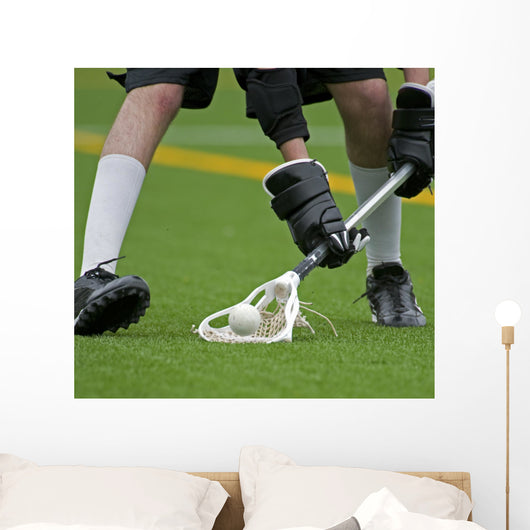 Boys Lacrosse Ball Turn Wall Decal