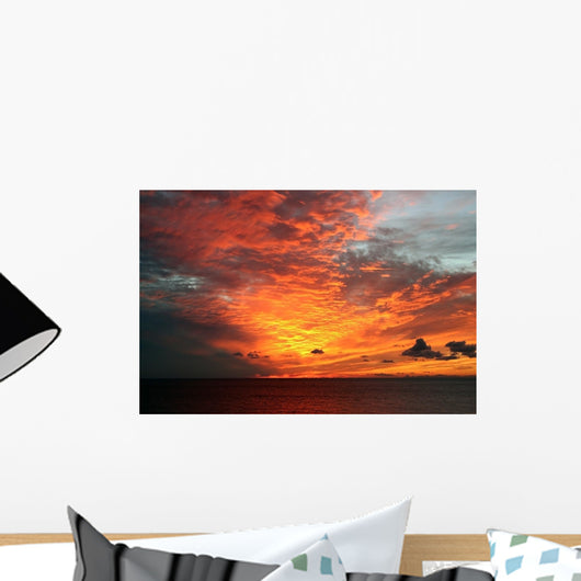 Sunset African Style Wall Decal