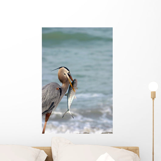 Great Blue Heron with Wall Decal