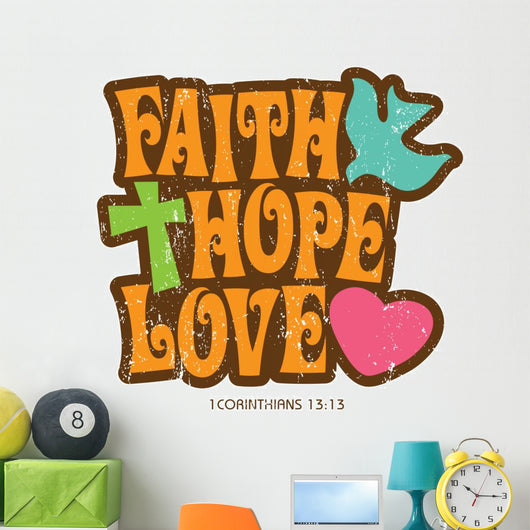 1970s Vintage Christian T-shirt Wall Decal