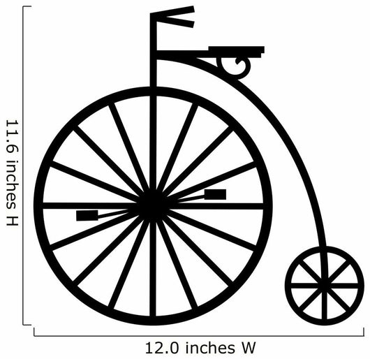 Silhouette of Pennyfarthing Cycle Wall Decal
