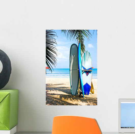 Surf Boards Beach Wall Decal