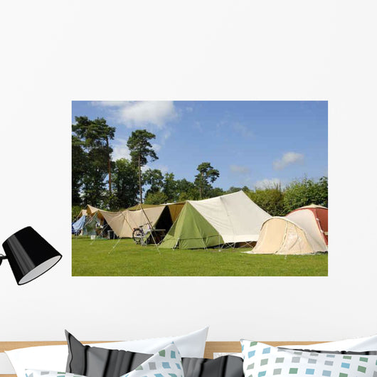 Tents Camping Wall Decal
