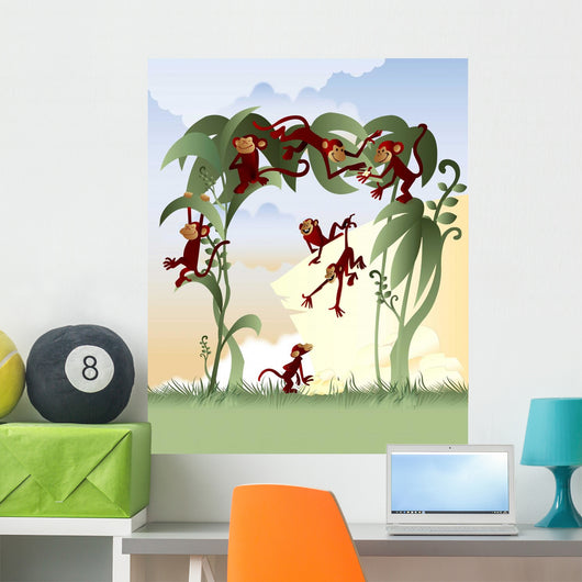 Little Monkeys Wall Mural