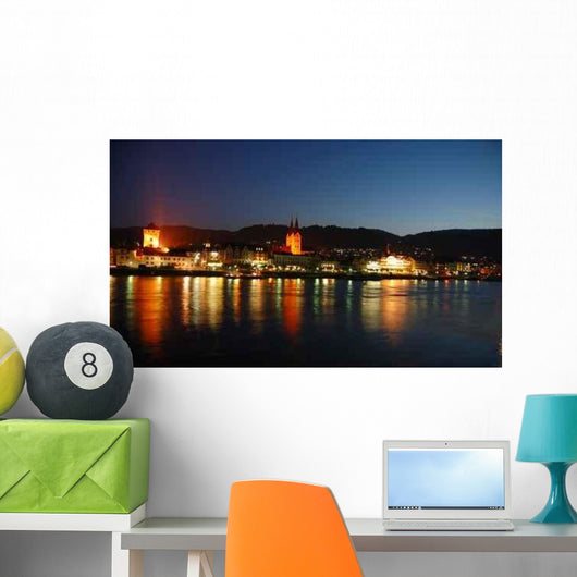 Night Scene Rhine Wall Decal