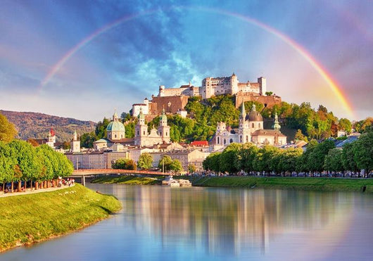 Austria Rainbow over Salzburg Wall Decal