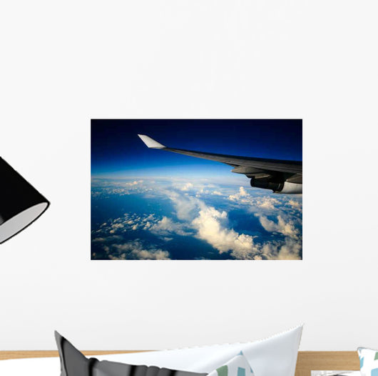 Airplane with Wing Wall Mural