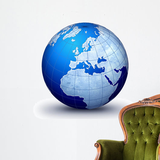 world globe evolution Wall Decal