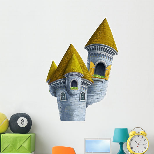 Birds Eye Wizard Castle Wall Decal