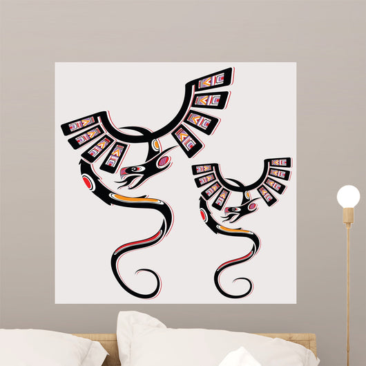Dragon in ethnic national style of the American Indians Wall Decal