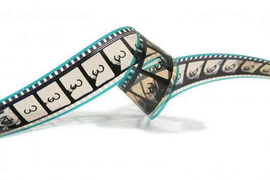 Curled Movie Film Strip Wall Decal