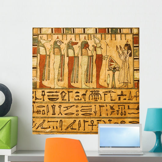 Ancient Egyptian Gods and Hieroglyphics Wall Mural