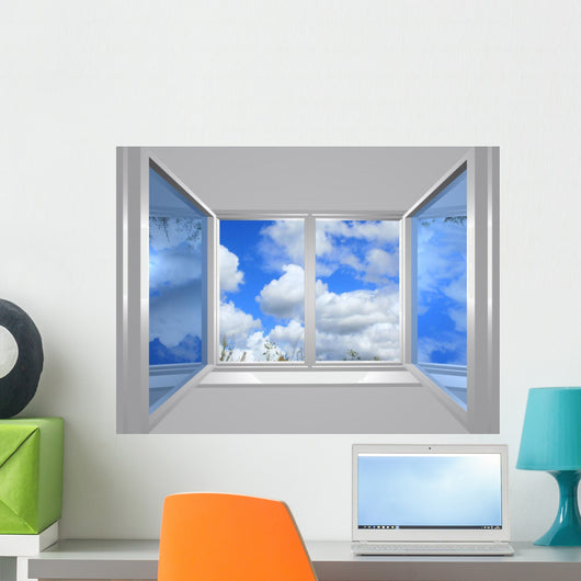 From Window Blu Sky Wall Decal